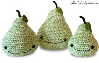 Green Amigurumi Pears