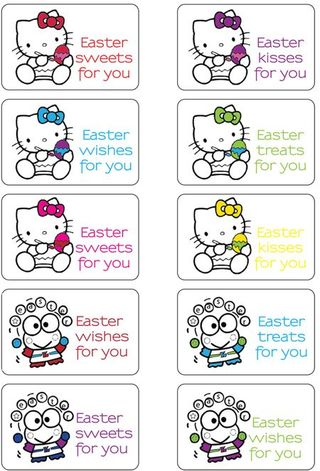 Hello Kitty Easter Basket. I adore the hello kitty one.