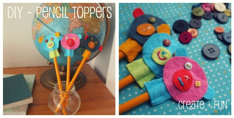 Cute pencil toppers DIY