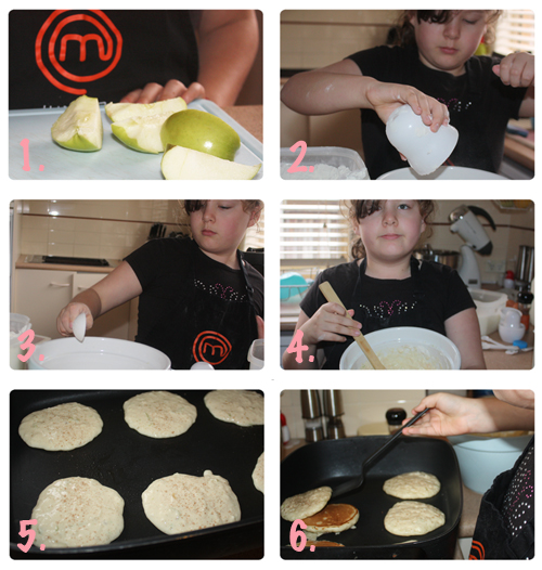 Cooking apple pikelets