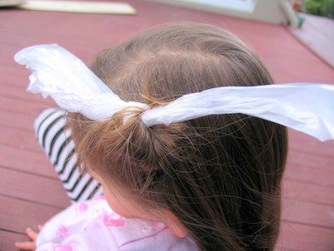 Rag curls step 2