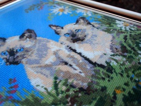 Vintage cat tapestry 2
