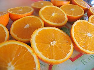 Homemade orange cordial