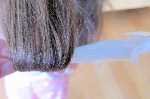 Rag curls step 1