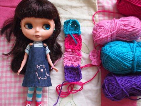 Doll blythe blanket