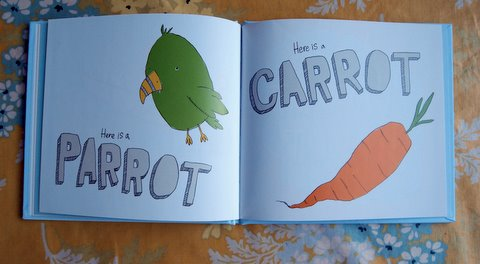 Parrot carrot inside