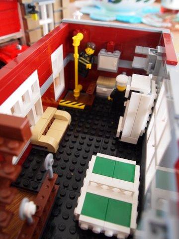 Modular lego fire brigade inside