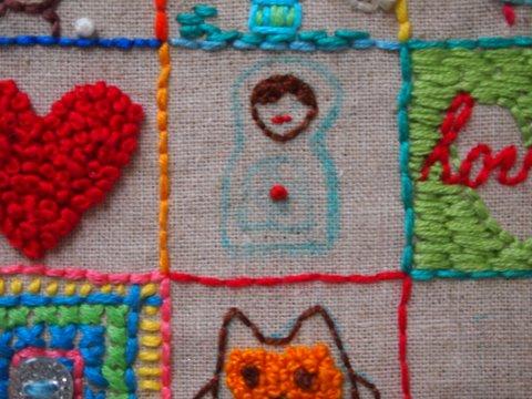 Embroidered babushka