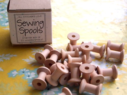 Spools for embroidery cottons