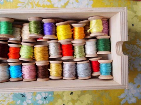 Embroidery cotton storage solution