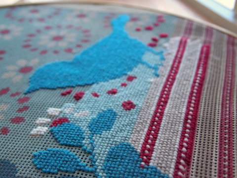 Bird needlepoint