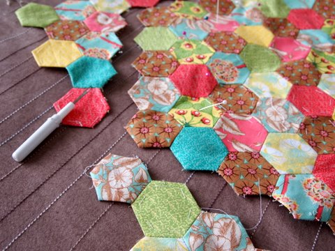 Fabric hexagon 1