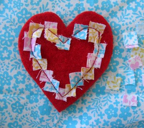Valentines day brooch