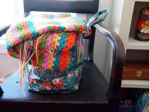 Crochet caravan blanket