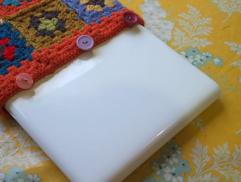 Granny square crochet laptop