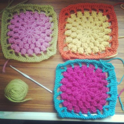 How Do You Crochet : ... you start - it creates a little crocheted puff or pop corn for ...