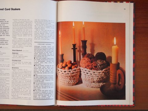 Inside crocheting and knitting book