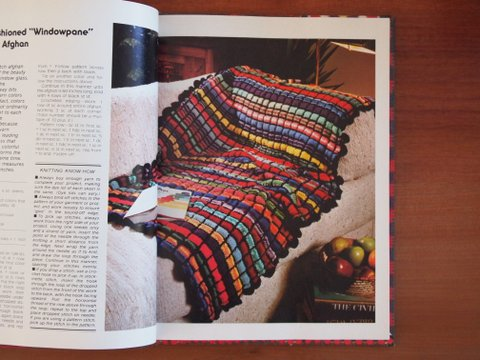 Crocheting and knitting book afghan