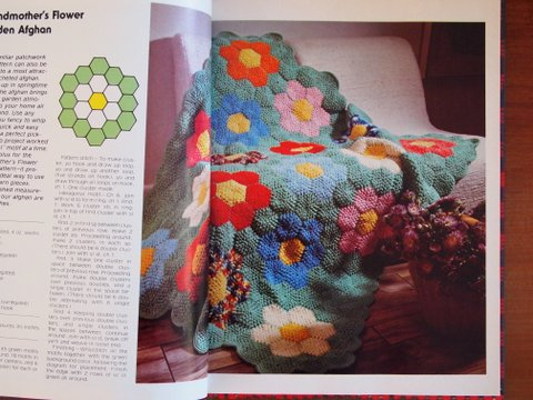 Crocheting and knitting book hexagon