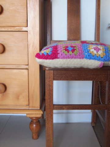 Crochet pillow handmade finished