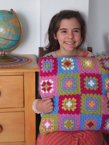 Crochet pillow handmade gift