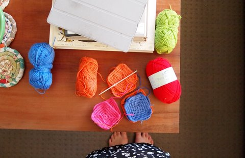 Crochet blanket start