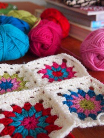 Handmade gift crochet cushion