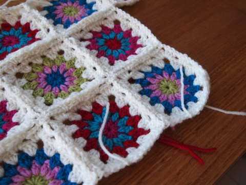 Starburst crochet cushion