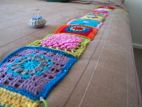 Crochet blocking squares