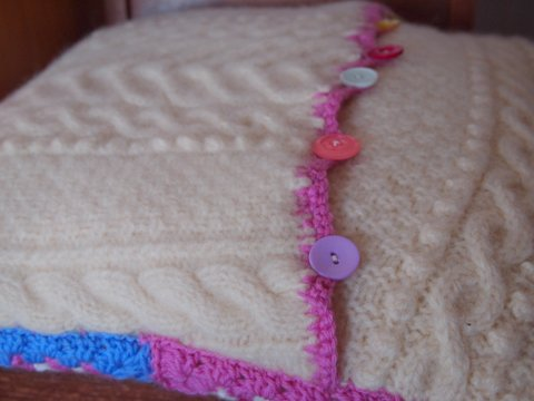 Crochet pillow handmade back