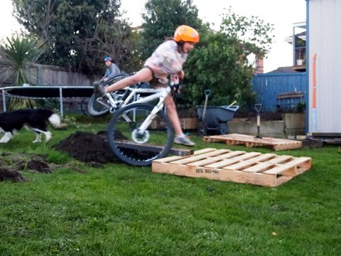 Backyard bike stack