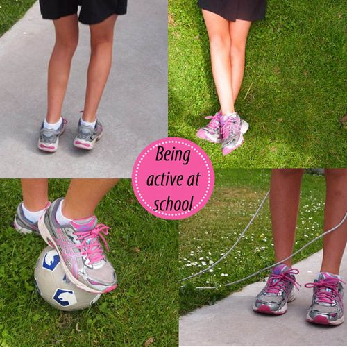 Being active at school Athletes Foot