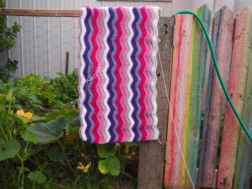 Baby ripple blanket progress