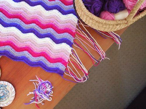 Baby ripple blanket crochet ends