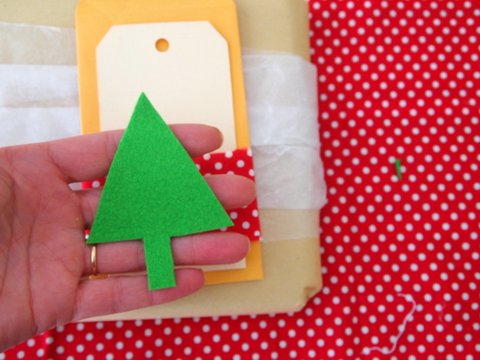 Christmas gift wrapping tutorial step 7