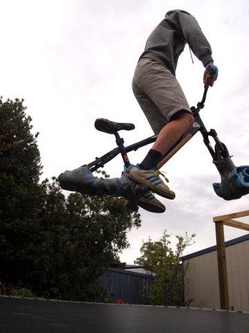 Trampoline bike jump