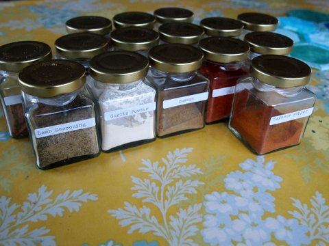 Kitchen spices storing