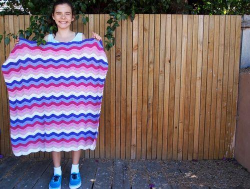 Baby ripple blanket complete