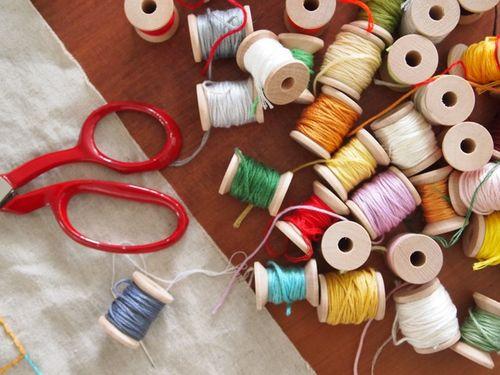 Embroidery cotton storage