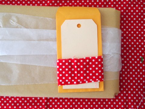 Christmas gift wrapping tutorial step 6