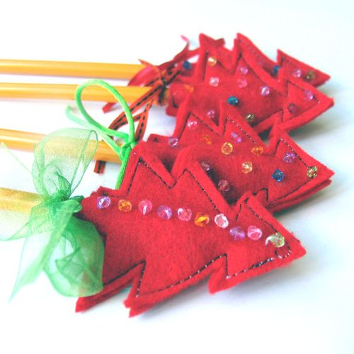 Christmas pencil toppers tutorial