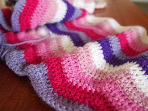 Ripple baby blanket 1
