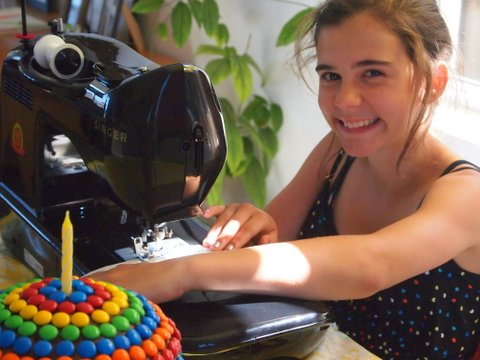 Turning twelve sewing machine