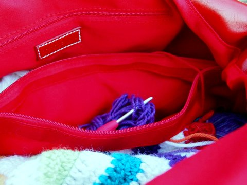 Namaste knitting bag inside 1