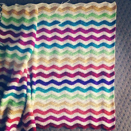 Ripplealong blanket progress