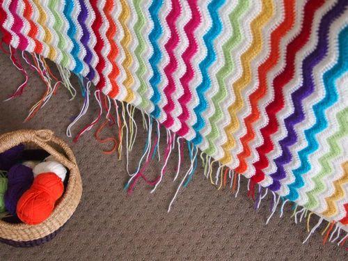 Crochet ripple ends