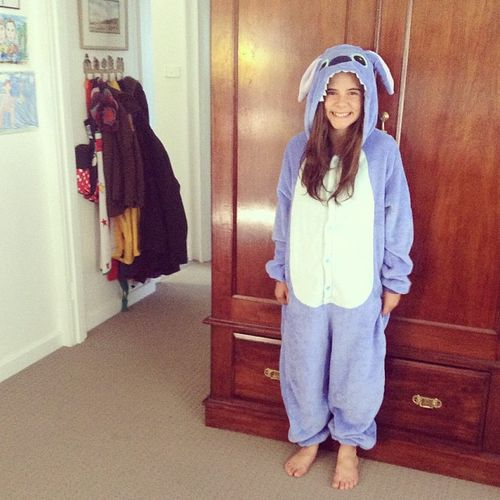 Stitch onesie velour