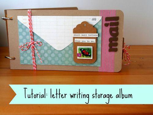 Tutorial letter writing storage album