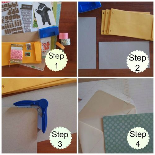 Letter storage album step1