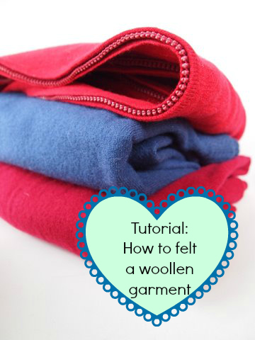 How to felt a woollen garment